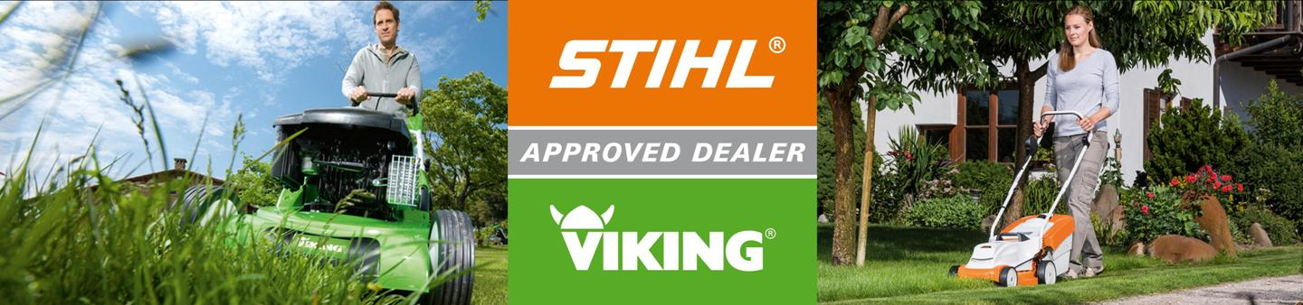 CUT YOUR LAWN WITH EASE WITH A STIHL OR VIKING LAWN MOWER