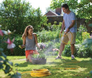 keep your garden watered and your car and driveway clean with hozelock hoses and accessories