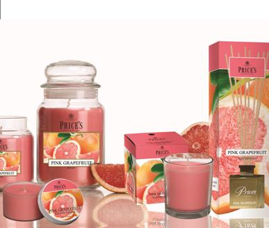Prices candles fragrance range of Jar Candles and diffusers