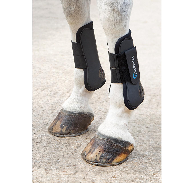 Tendon Boots Black Full