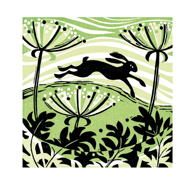 Hillside Hare - Card