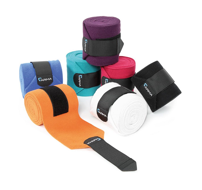 Fleece Bandages 4pk Black
