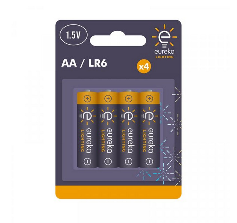AA Alkaline Batteries 4pk