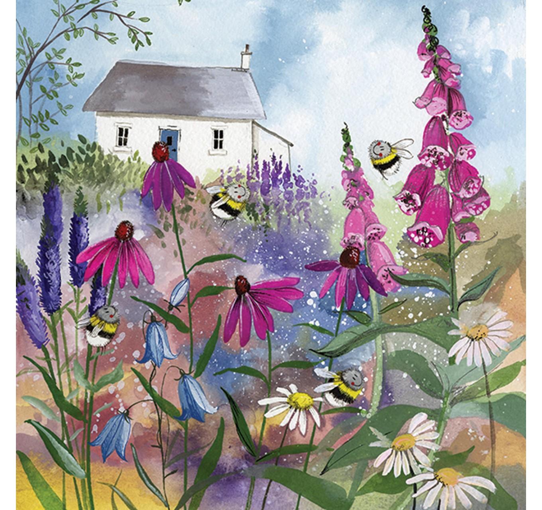 Bee Garden Blank Card