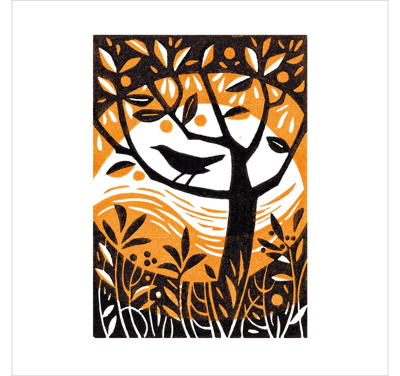 Blackbird In The Garden - Card