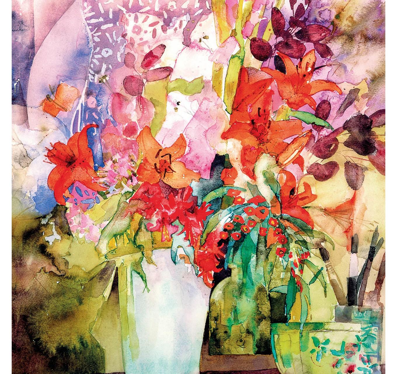 Orange Lilies - Card
