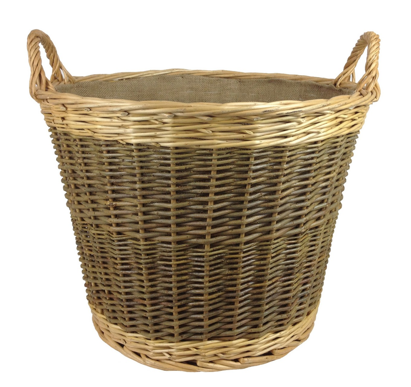 Unpeeled Lined Log Basket