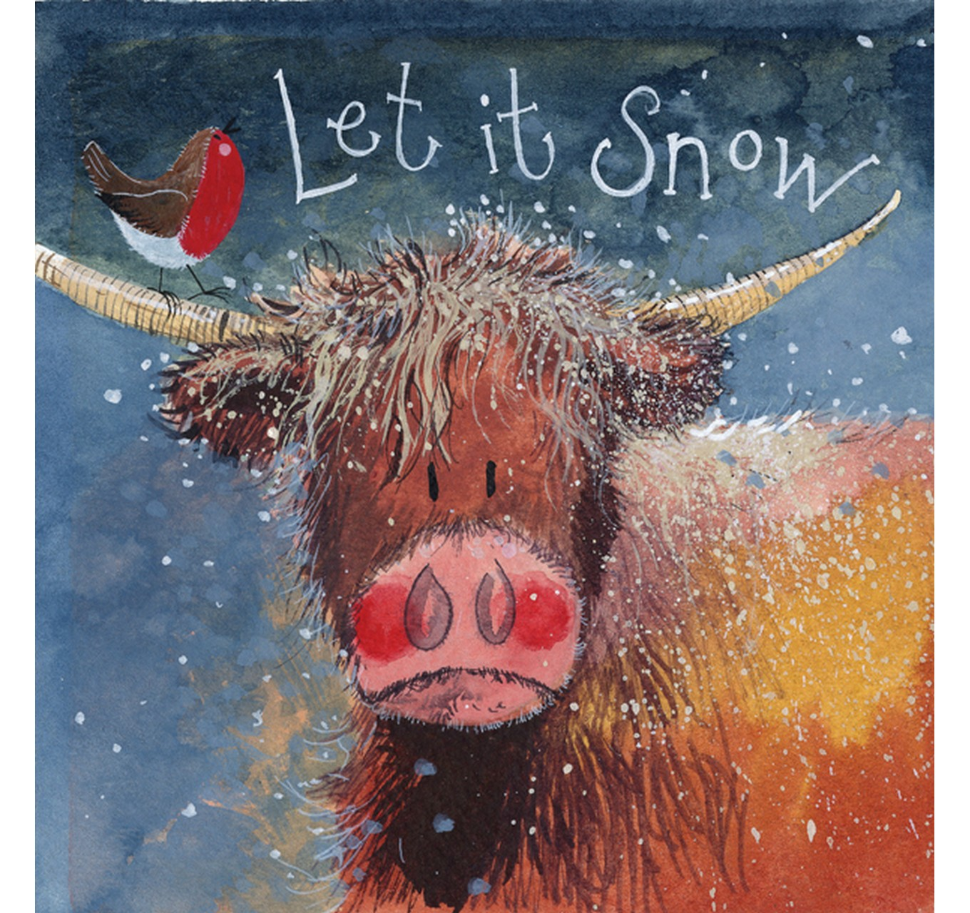 Let It Snow Highland Cow - 5pk