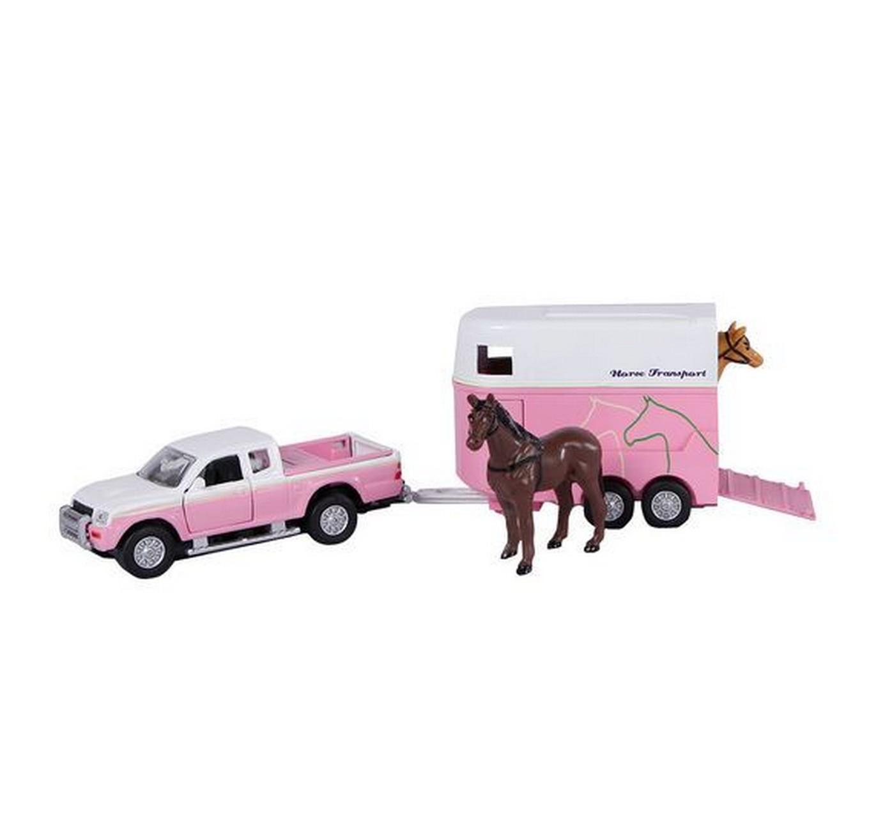 Pink Mitsubishi & Horse Box