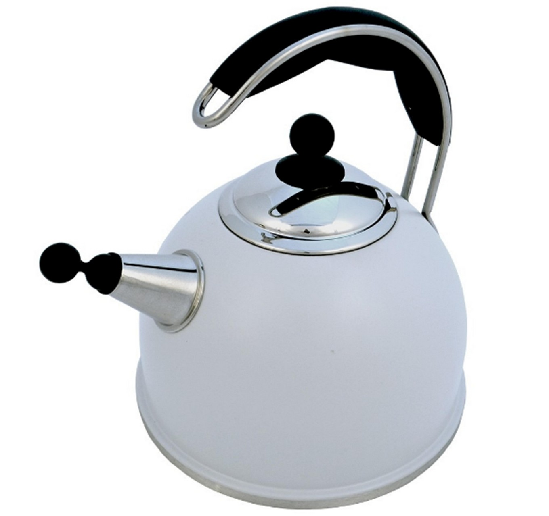 Grey Whistling Kettle 2.2L