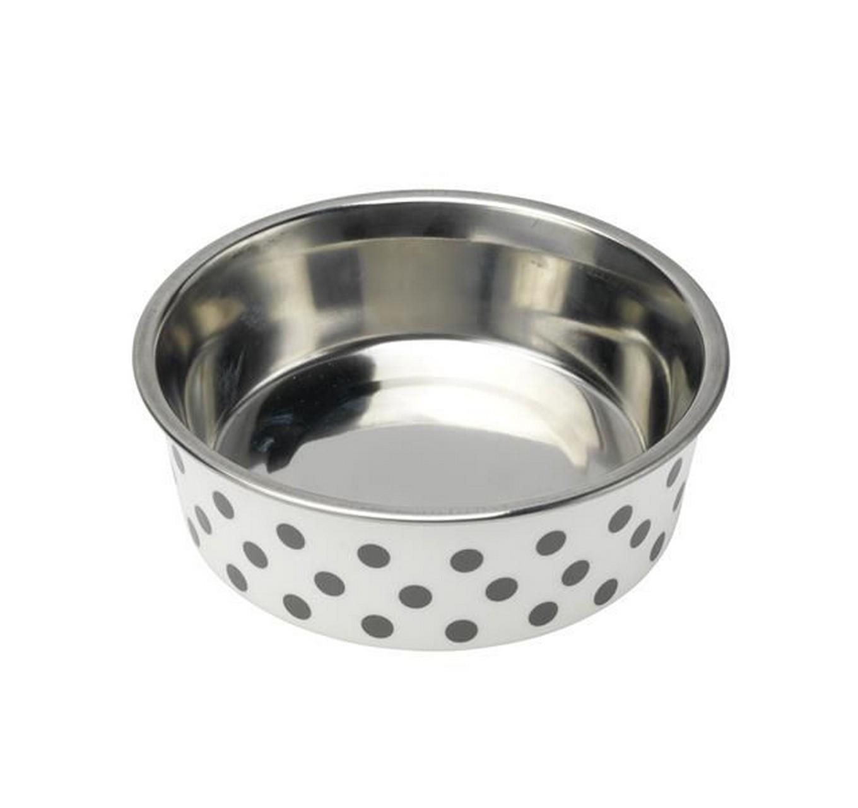 Deli Bowl Grey Spots 14cm