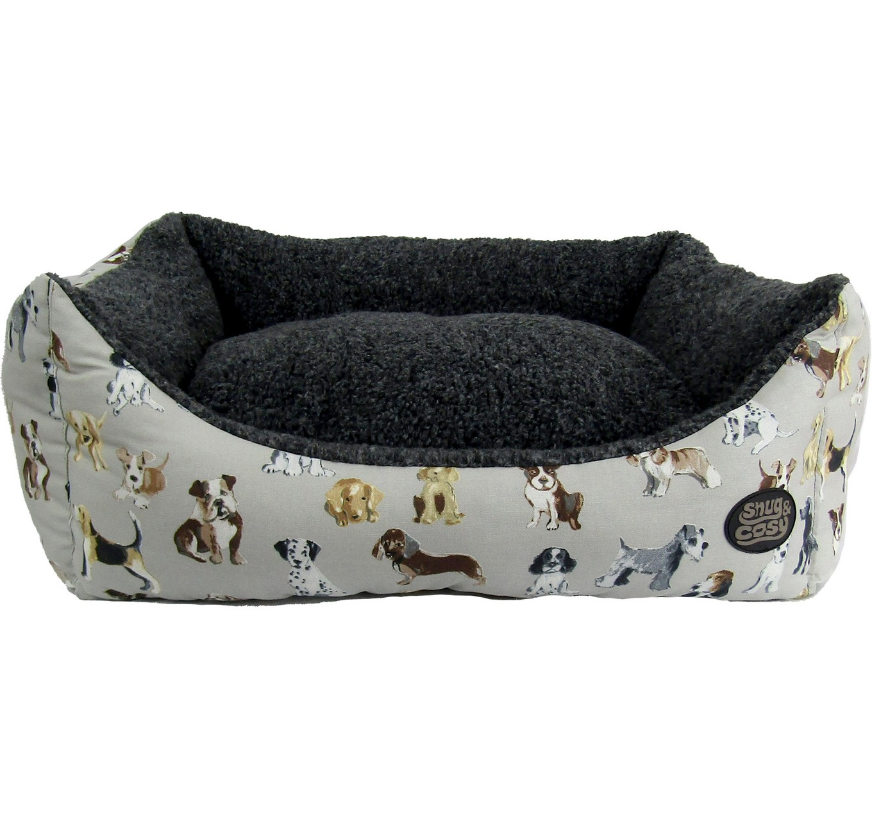 Dog Print Rectangular Bed 30