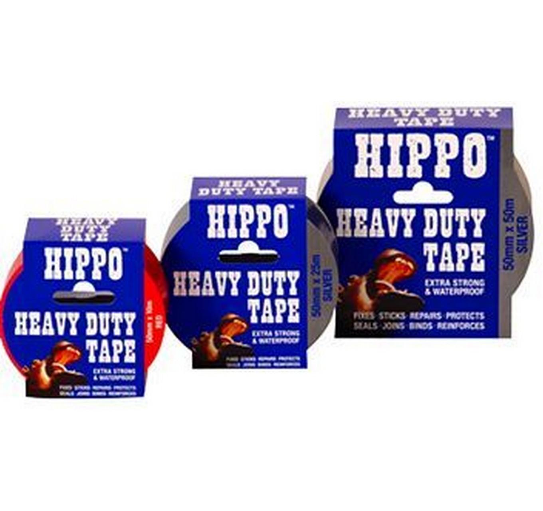 Hippo Gaffa Tape - Silver- 25m