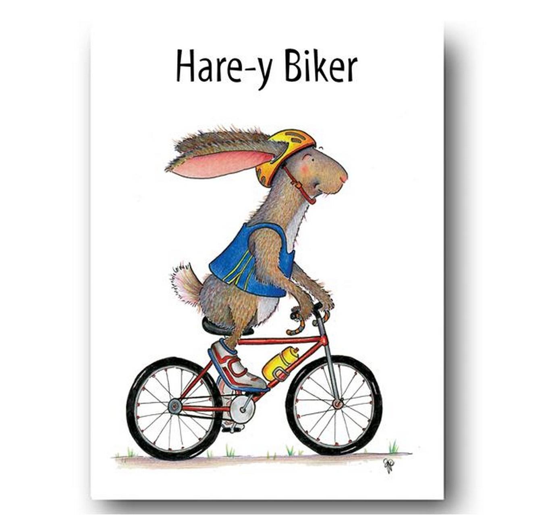 Hare-y Biker - Card