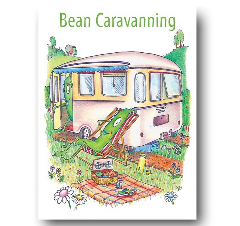 Bean Caravanning - Card
