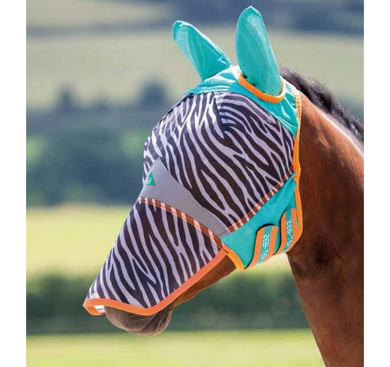ZEB-TEK Zebra Fly Mask Cob