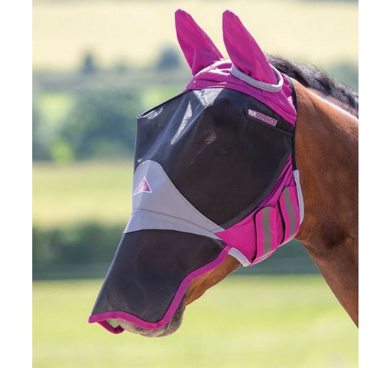 Deluxe Fly Mask Burgundy Cob