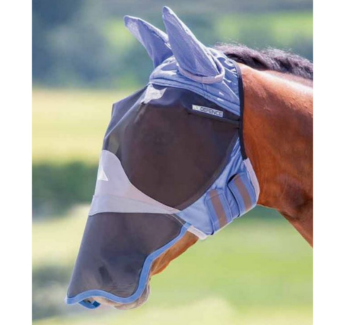 Deluxe Fly Mask Blue Cob