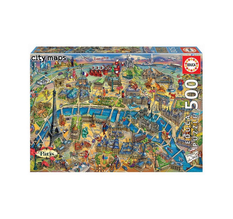 Paris City Map 500pc