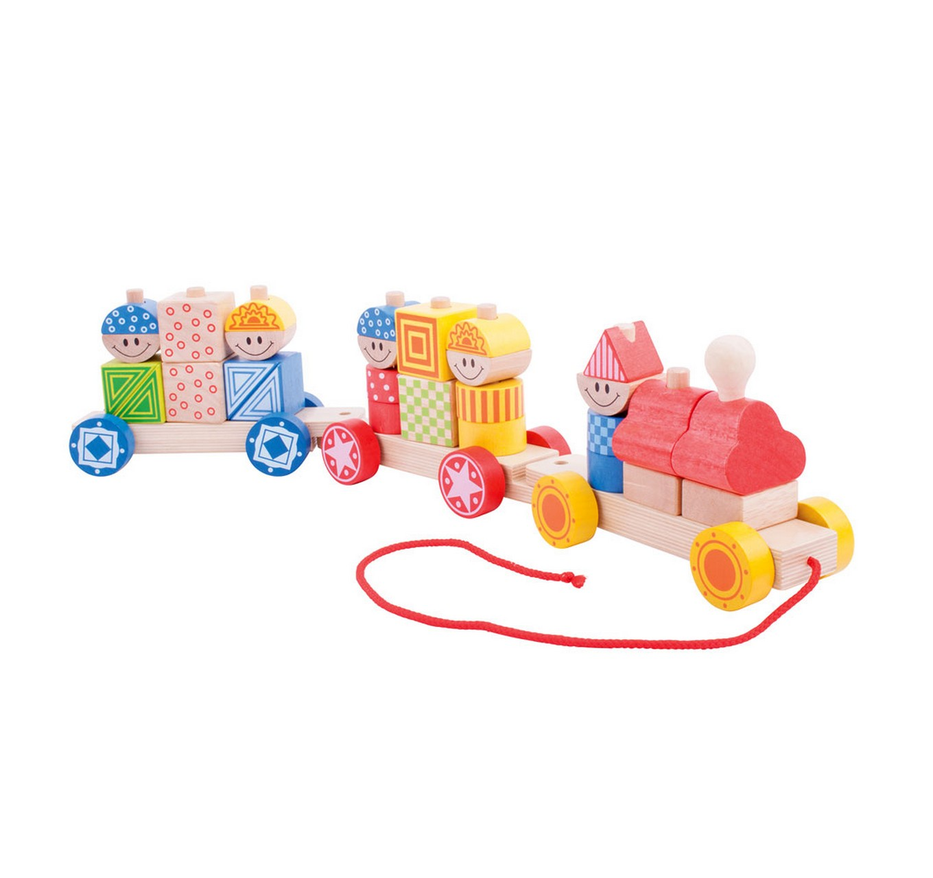 Pull Along Build Up Train