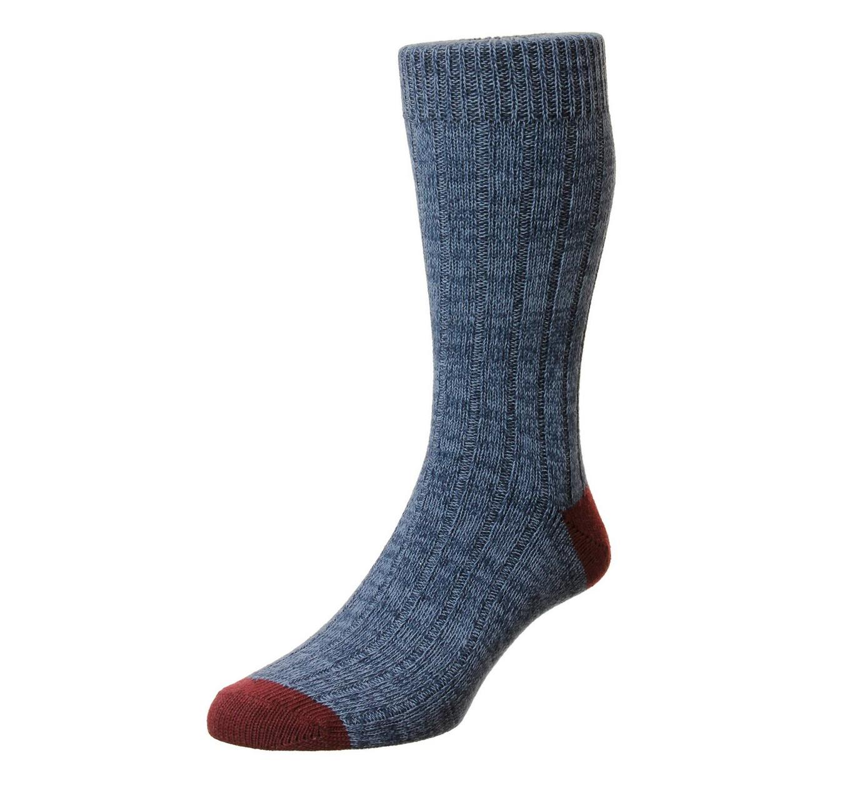 Ramsey Sock Navy/Maroon 11-13
