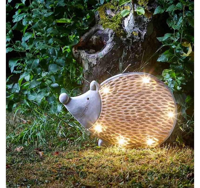 Wood Stone In-Lit Hedgehog
