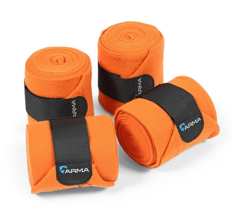 Fleece Bandages 4pk Orange