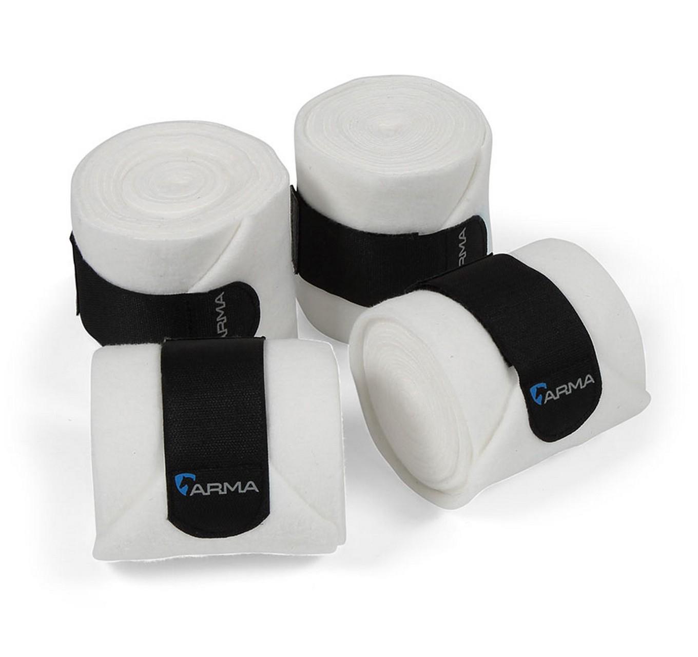 Fleece Bandages 4pk White