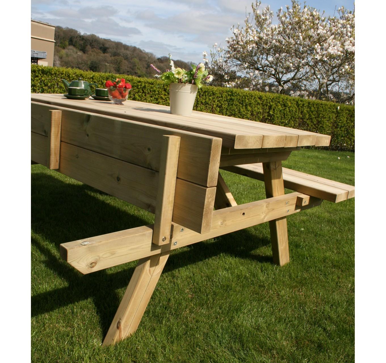 Hutton Large Rectangular Picnic Table Gardening