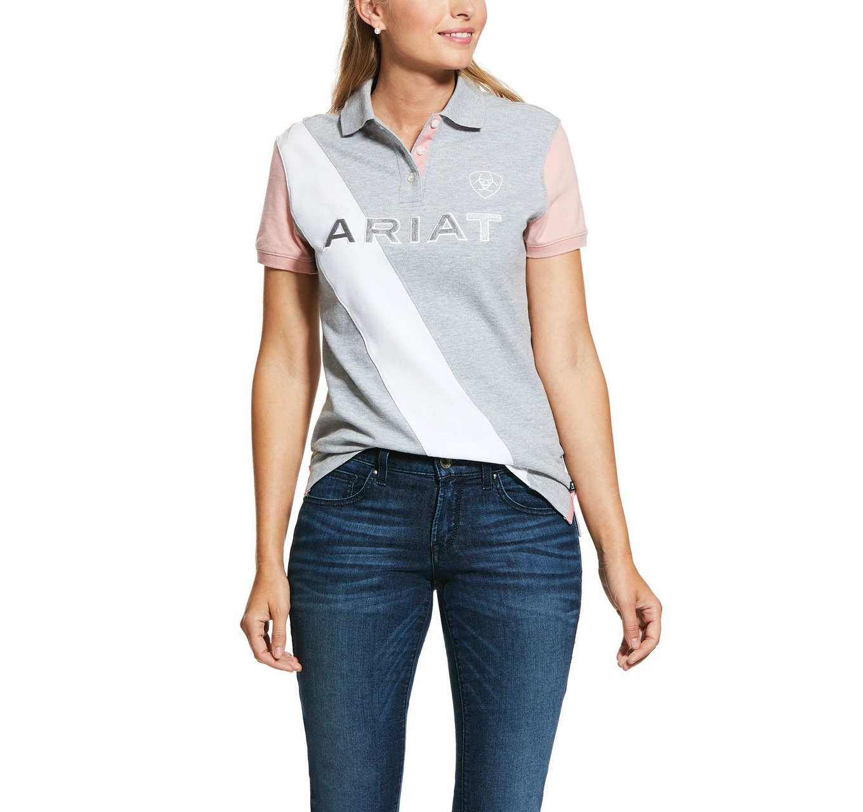 Tayrn Polo Shirt Gray/Rose S