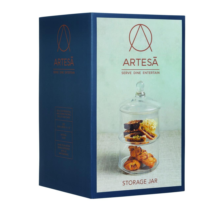 Glass 2 Tier Storage Jar