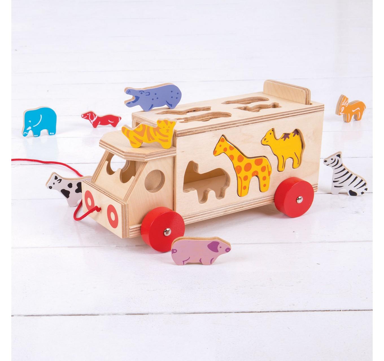 Animal Shape Sorter Lorry
