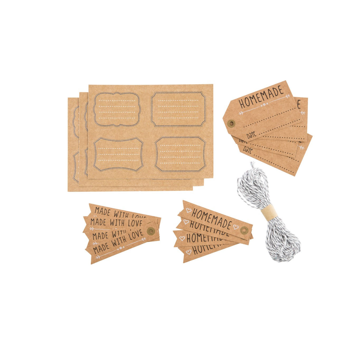 Tag & Label Set 12pc