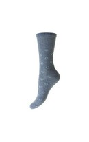 Hearts Cotton Socks Denim 4-7