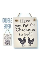 Chickens In Bed  - Double Sign