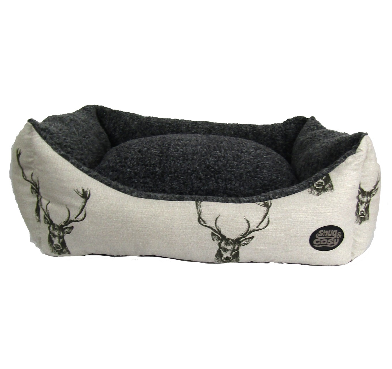 Stag Print Dog Bed 30