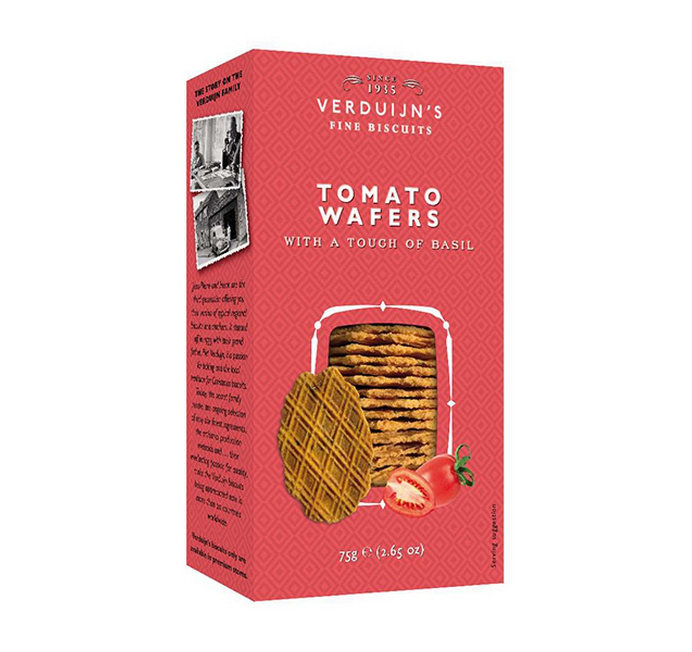 Tomato Wafers with Basil 75g