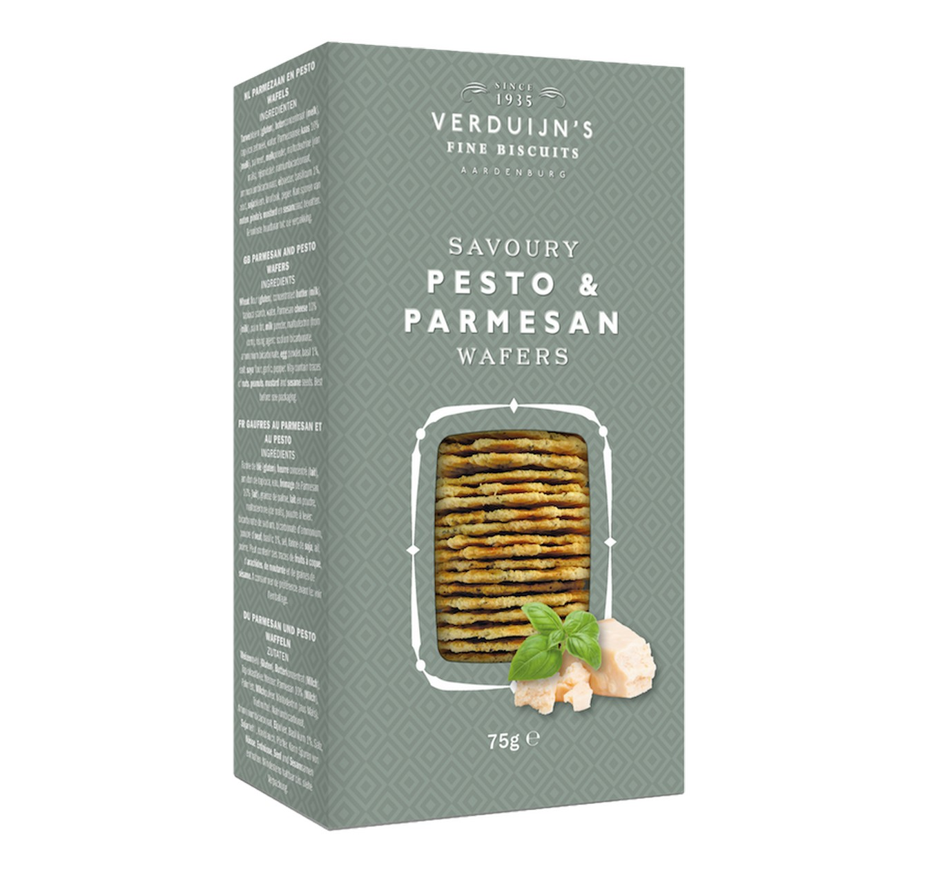 Parmesan Wafers with Basil 75g