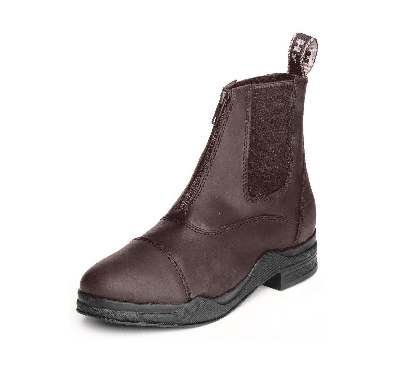 Wax Leather Zip Boot Black 4