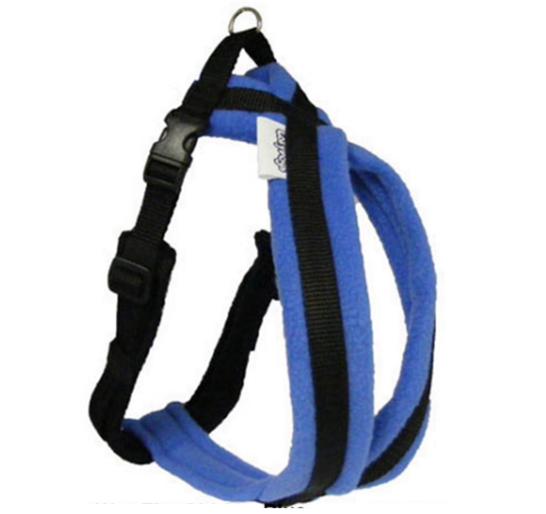 Fleece Dog Harness Turquoise 3