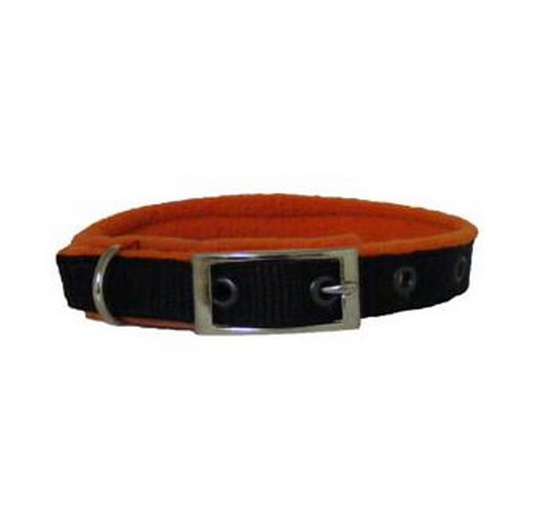 Fleece Dog Collar Orange 3