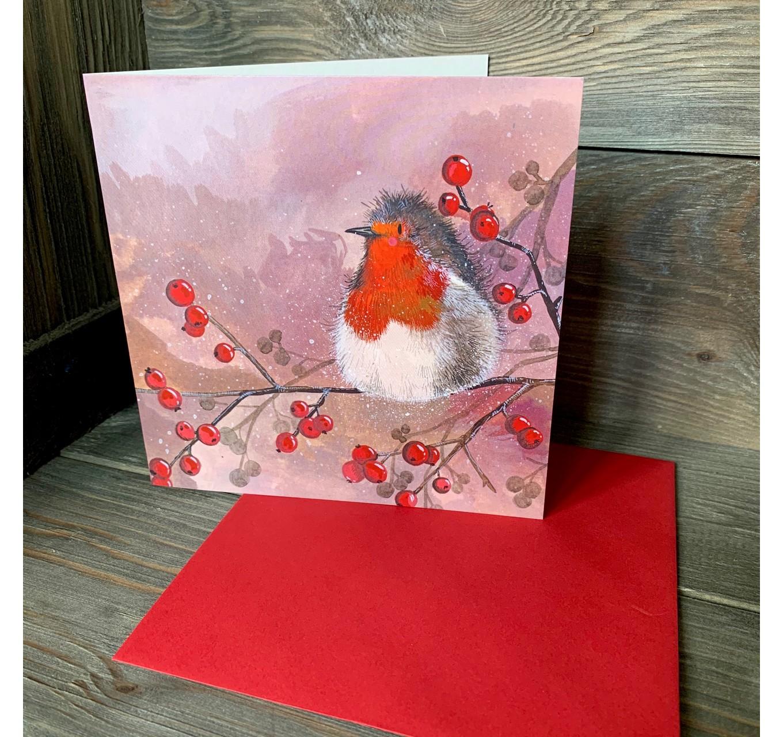 Robin & Red Berries 5pk