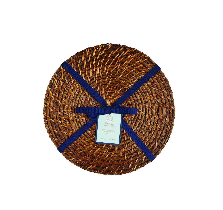 Bamboo Rattan Placemats 2pk