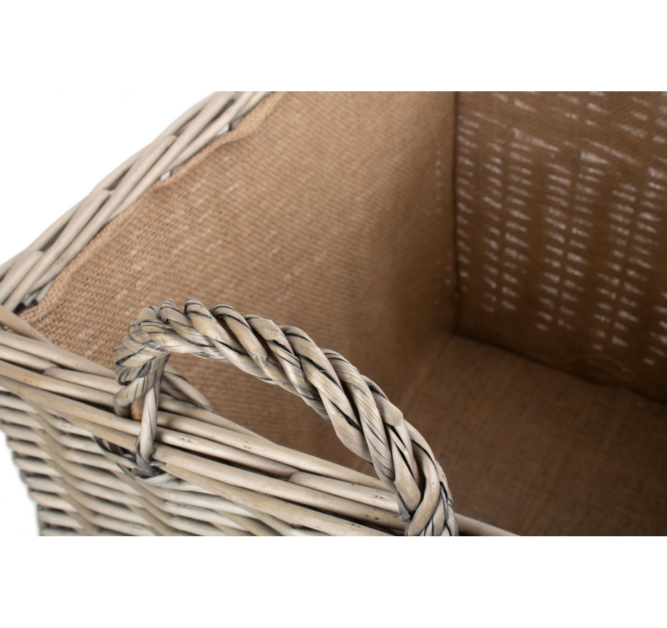 Rectangle Wicker Log Basket L