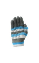 Magic Patterned Gloves Blu/Gry