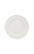 Whiteware Ridged Bread Plate