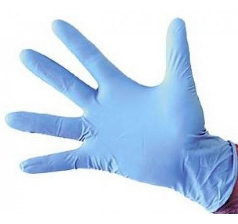 Blue Nitrile Gloves (M) 100pk
