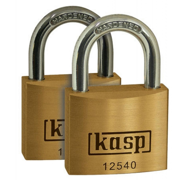 Brass Padlock 50x28mm - 2pk