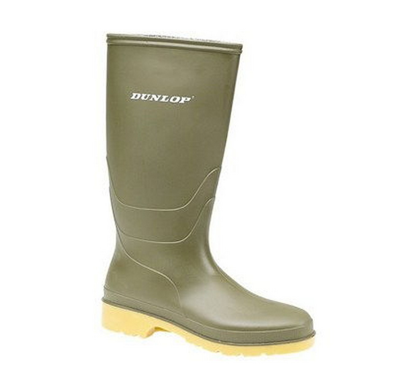Childs' Dull Green Wellies 10