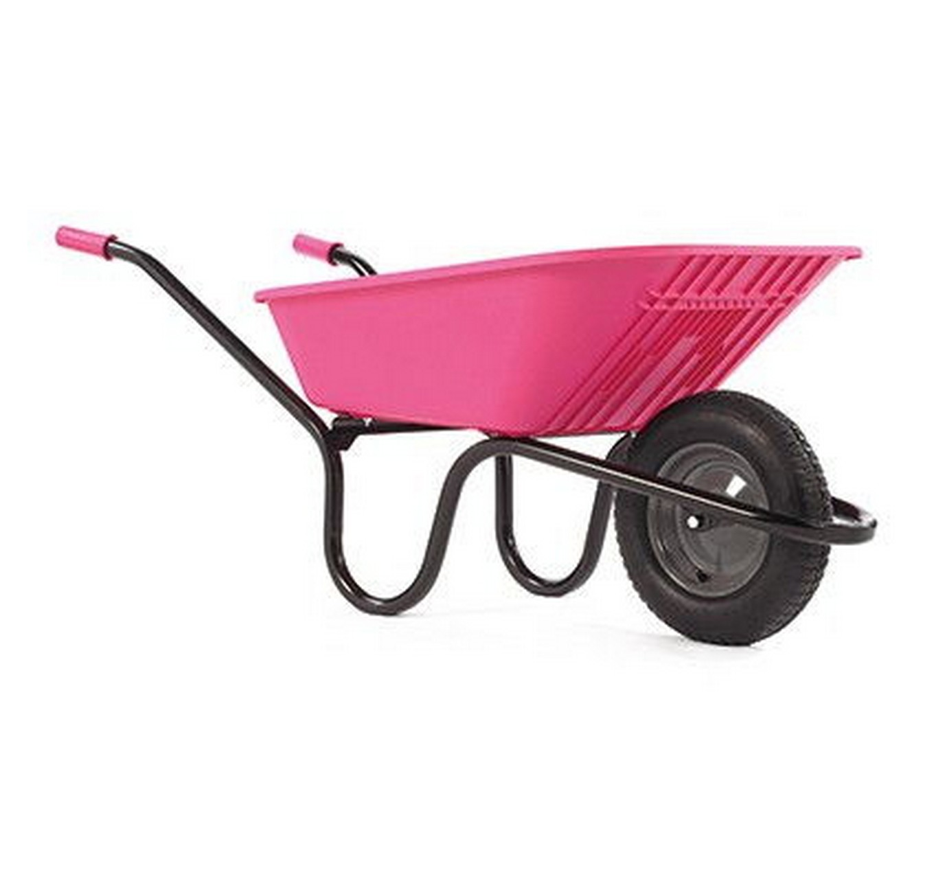90ltr Pink Poly Wheelbarrow